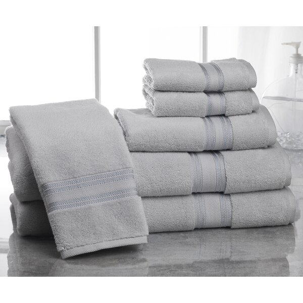 Brecken Zero Twist 6 Piece 100% Cotton Towel Set by Eider & Ivory